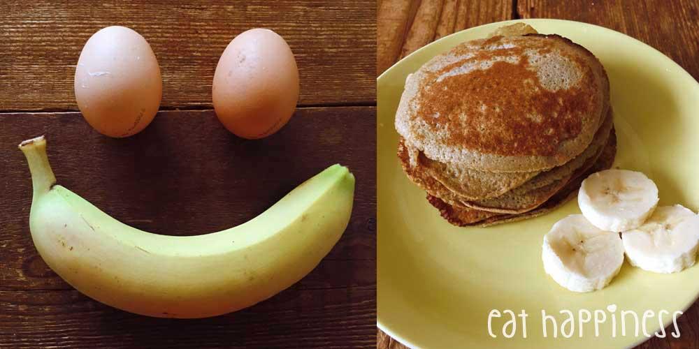 Happy pancakes met ei en banaan
